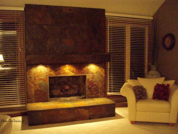 Wood burning fireplace vent free